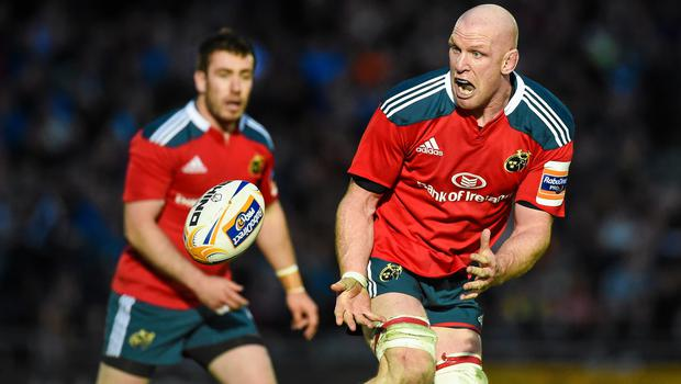 16 May 2014; Paul O'Connell, Munster. Celtic League 2013/14 Play-off, Glasgow Warriors v Munster, Scotstoun Stadium, Glasgow, Scotland. Picture credit: Diarmuid Greene / SPORTSFILE