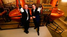 Jack and Stephen Teeling at the opening of the Teeling Whiskey Distillery and visitor centre in The Liberties, Dublin 8. Picture: Conor McCabe Photography.