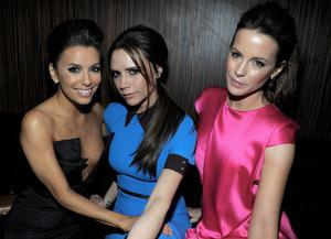 Actress Eva Longoria, designer Victoria Beckham and actress Kate Beckinsale