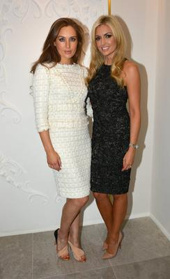 Rosanna Davison & Rozanna Purcell pictured at the launch of designer Lya Solis' luxury fashion boutique in the Powerscourt Towncentre