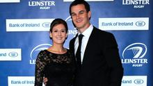 Ireland out-half Jonathan Sexton and his wife Laura are 'delighted'.  Photo: Caroline Quinn