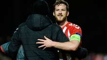 Ryan McBride of Derry City after their win over Dundalk last week