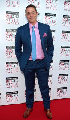 Baz Ashmawy on the Red Carpet at The Peter Mark VIP Style Awards 2015 at The Marker Hotel,Dublin. Pictures Brian McEvoy