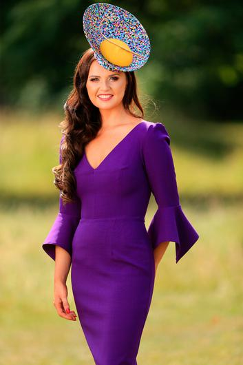 Milliner Jennifer Wrynne at the opening evening of the Galway Races. Picture: Gerry Mooney