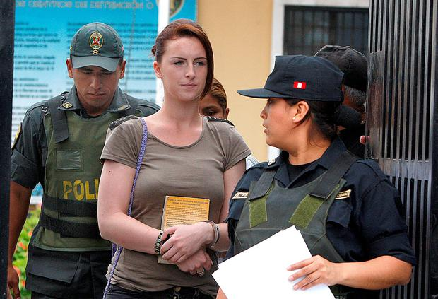 Michaella McCollum has said that she was a naive young woman when caught smuggling cocaine out of Peru. Photo: AP Photo/Karel Navarro