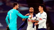 Tottenham Hotspur goalkeeper Hugo Lloris (left) and Son Heung-min clashed during their side's 1-0 win over Everton. Adam Davy/NMC Pool/PA Wire.