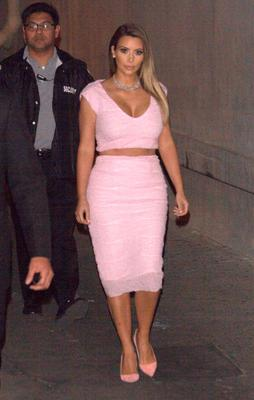 Kim Kardashian is seen on January 23, 2014 in Los Angeles, California.  (Photo by JMA/Star Max/GC Images)