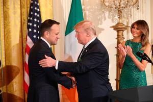 Short trip: Leo Varadkar is expected to meet Donald Trump. Photo: Niall Carson/PA Wire