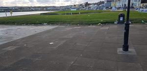 The council's ground team cleaned the area this morning. photo: Cllr Cillian Murphy