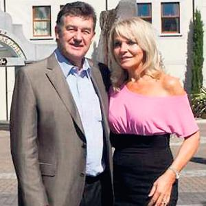 Bill Cullen with his partner Jackie Lavin