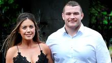 Sinead Corcoran and Jack McGrath at the wedding of Devin Toner and Mary Scott. Picture: Steve Humphreys