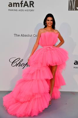 TOPSHOT - US model Kendall Jenner poses as she arrives on May 23, 2019 at the amfAR 26th Annual Cinema Against AIDS gala at the Hotel du Cap-Eden-Roc in Cap d'Antibes, southern France, on the sidelines of the 72nd Cannes Film Festival. (Photo by Alberto PIZZOLI / AFP)ALBERTO PIZZOLI/AFP/Getty Images