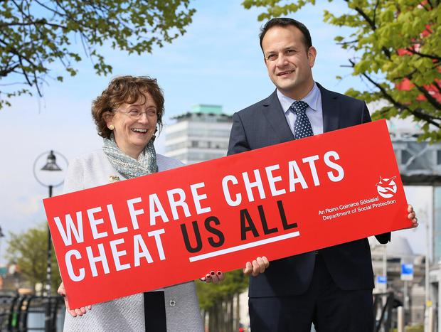 2017 launch: Leo Varadkar with Kathleen Stack, assistant secretary at the Department of Social Protection. Photo: Frank McGrath
