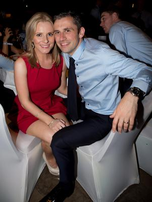Dublin's  Alan Brogan with Wife Lydia at the Winners Banquet in The Gibson Hotel