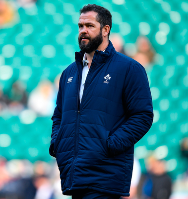 Andy Farrell before Ireland's Six Nations defeat to England at Twickenham in February. BRENDAN MORAN/SPORTSFILE