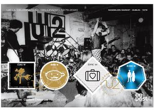 Collector's item: The cover envelope features U2 performing at the Dandelion Market in 1979