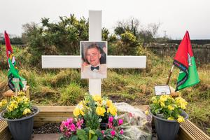 In memory: A celebration of Joe Deacy's life near where the young man was found dead in Co Mayo in August 2017. Photo: Keith Heneghan