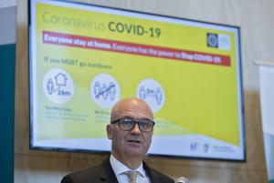Dr. Tony Holohan, Chief Medical Officer at the Department of Health, pictured this evening at a Covid -19 update press conference. Photo: Colin Keegan, Collins Dublin