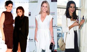 (L to R) Shelly Corkery pictured with Victoria Beckham, Amy Huberman and Suzanne Jackson