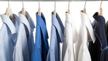 Hangers are a major sub category in wardrobe maintenance: Stock Image