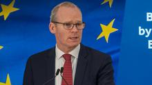 Row: Simon Coveney said fishing rights were an issue. Photo: Douglas O'Connor