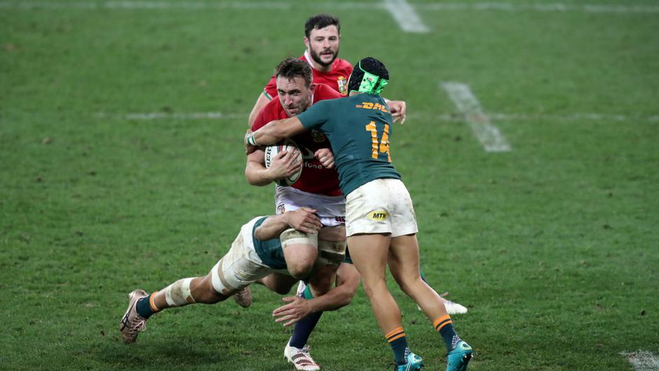 Jack Conan in action against the Springboks. REUTERS/Mike Hutchings
