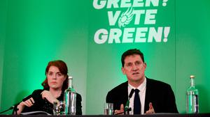 Decision time: Green Party TD Neasa Hourigan and party leader Eamon Ryan. Photo: Caroline Quinn/PA
