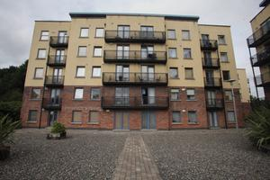 The Tolka Vale apartments in Finglas where Andrea fell to her death. Photo: Garrett White