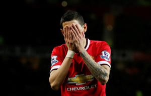 Manchester United's Angel Di Maria looks dejected Reuters / Andrew Yates