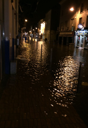 Flooding on Cork City's streets last night (Photo: Thomas Goulding)