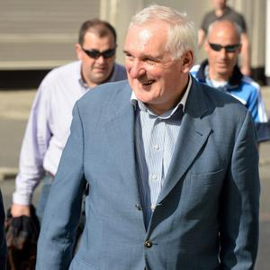 22 September 2013; Former Taoiseach Bertie Ahern arrives ahead of the GAA Football All-Ireland Championship Finals, Croke Park, Dublin. Picture credit: Stephen McCarthy / SPORTSFILE