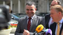 Heavy hitters: Fianna Fáil TDs Dara Calleary (left) and Michael McGrath are old hands at negotiating with Fine Gael.