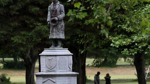 A statue of Sean Russell, an Irish republican who fought in the 1916 Rising and was a leader during the War of Independence, which Taoiseach Leo Varadkar has said may need to be removed.