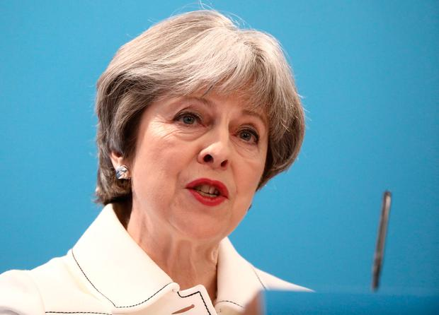 If a hard Brexit were to be finalised by British Prime Minister Theresa May, it could push up the cost of living by between 2pc and 3.1pc in Ireland. Photo: REUTERS/Simon Dawson/Pool