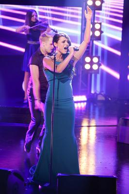 """Embargoed until 10:45pm Repro Free: 28/02/2013 Can-linn feat. Kasey Smith performing their song """"Heartbeat"""" during the Late Late Eurosong special. Picture Andres Poveda"""