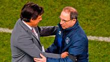 Martin O'Neill shakes hands with Wales manager Chris Coleman. Photo: Sportsfile