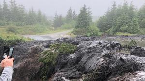 Frightening: Thousands of tonnes of peat flowed for several kilometres in Co Leitrim
