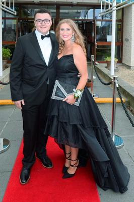Alannah Hanigan (18) wearing Folkster and Liam Litchfield (18) at the Santa Sabina Domincan College Debs