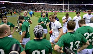 England's captain Chris Robshaw leads his team off after the RBS 6 Nations match at Twickenham