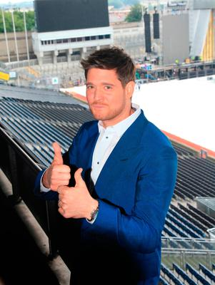 Michael Buble at Croke Park before his concert today.