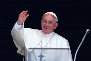 THE POPE: May be opting to play liberal media on their own turf