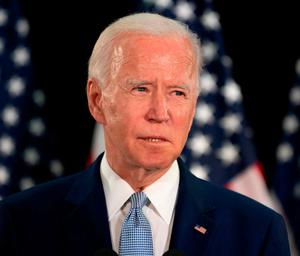 'In the midst of chaos, Biden must present himself as the antidote to Trump'. Photo: Jim Watson/AFP via Getty Images
