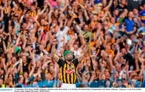 Henry Shefflin celebrates last year's All-Ireland final win