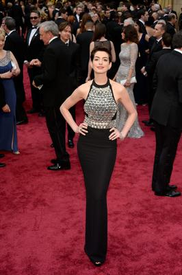 Actress Anne Hathaway attends the Oscars held at Hollywood & Highland Center on March 2, 2014 in Hollywood, California.  (Photo by Kevork Djansezian/Getty Images)