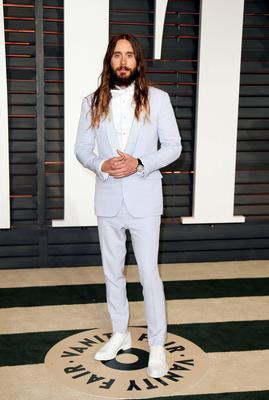 Actor Jared Leto arrives at the 2015 Vanity Fair Oscar Party
