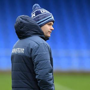 11 January 2020; Dublin manager Dessie Farrell before the O'Byrne Cup Semi-Final match between Longford and Dublin at Glennon Brothers Pearse Park in Longford. Photo by Ray McManus/Sportsfile