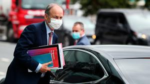 An Taoiseach Micheál Martin arriving at the Convention Centre Dublin for a Dáil session. Photo: Brian Lawless/PA Wire