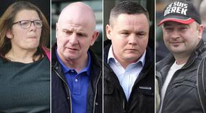 Pictured from left to right: Bernie Hughes of McKelvey Avenue, Finglas; Damien O'Neill of Greenwood Park in Coolock; Paul Moore of Mount Olive Grove in Kilbarrack;  Derek Byrne of Streamville Road, Donaghmede. Not pictured: Michael Batty of Edenmore Avenue, Raheny
