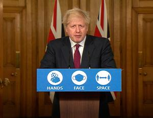 Screen grab of Prime Minister Boris Johnson during a media briefing in Downing Street, London, on coronavirus. Photo: PA Video/PA Wire