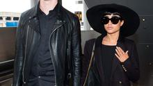 LOS ANGELES, CA - MARCH 17: Willy Moon and Natalia Kills seen at LAX on March 17, 2015 in Los Angeles, California.  (Photo by GVK/Bauer-Griffin/GC Images)